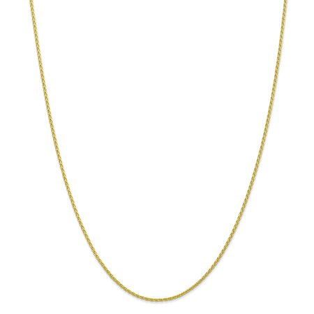 10K Yellow Gold 1.5 MM Parisian Wheat Link Chain Necklace, 18""