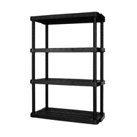 Gracious Living Heavy Duty Adjustable Ventilated Storage Shelving Unit, 4 Shelf
