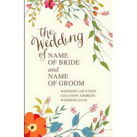 Bulletin-Wedding Of...(Personalize) (Pack Of 100)](Wedding Bulletins)