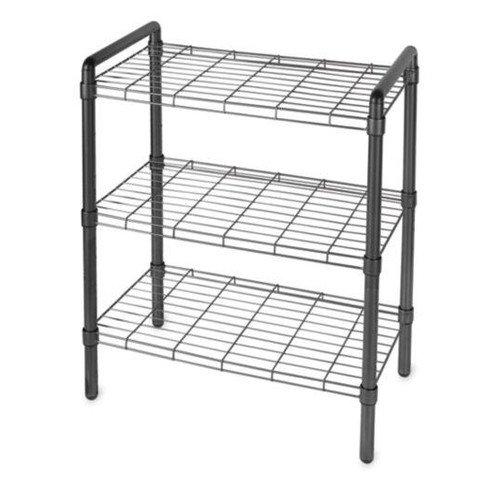 3-Tier Wire Shelving, Black - Walmart.com