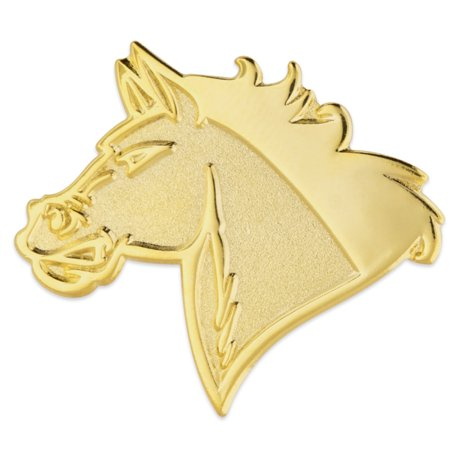 Mustang Mascot (PinMart's Gold Mustang Mascot Chenille Letterman's Jacket Lapel Pin)
