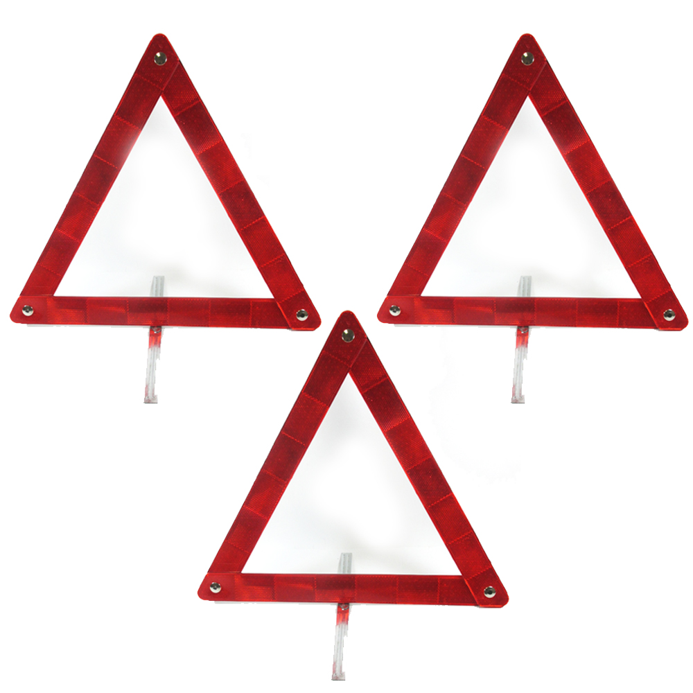 3Pc Reflective Emergency Road Parking Sign Car Triangle Safety Warning Vehicle !