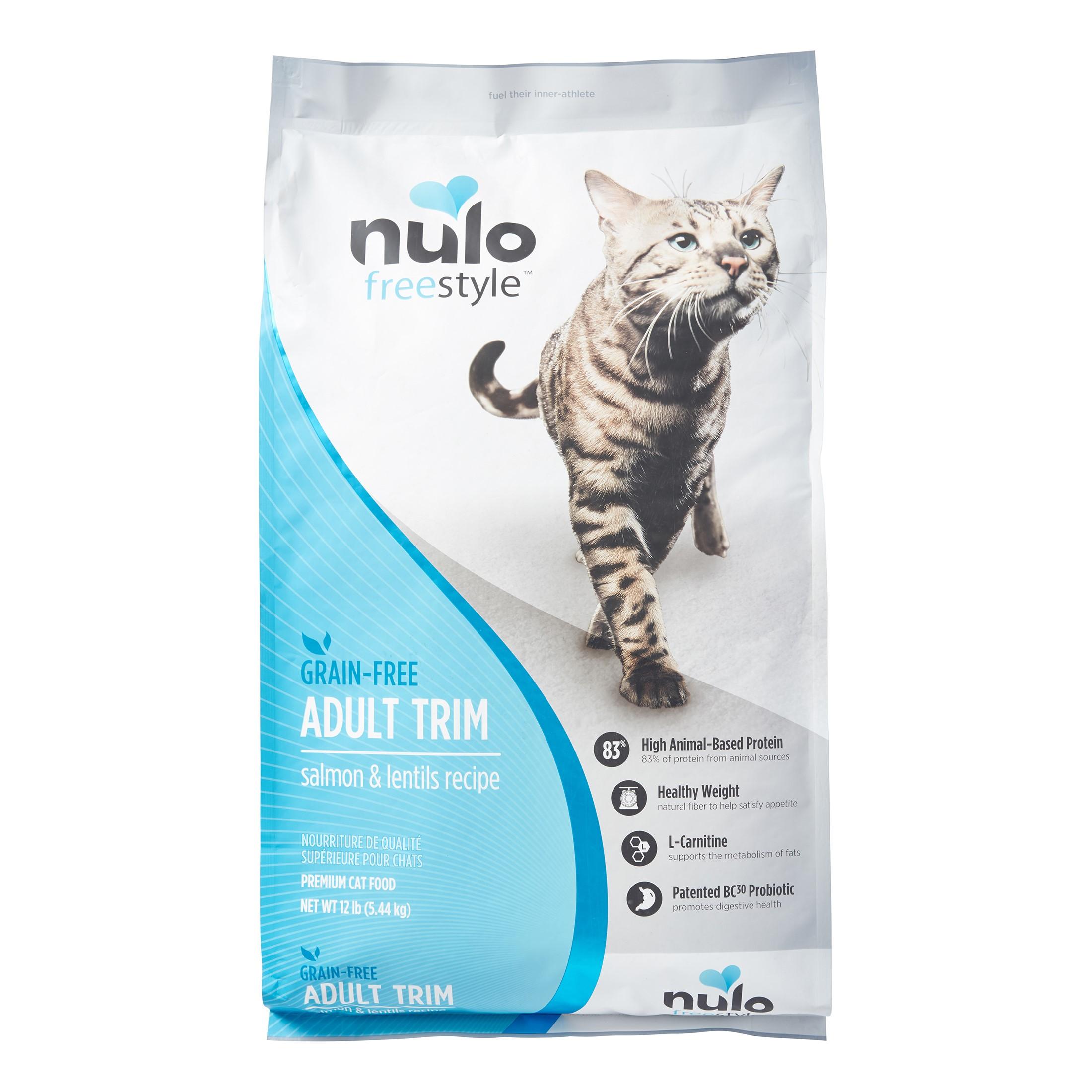Nulo Freestyle Grain-Free Adult Trim Salmon & Lentils Dry Cat Food, 12 Lb