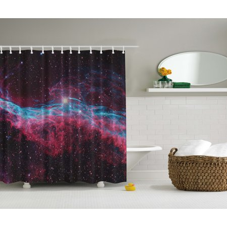 Https Www Walmart Com Ip Science For Kids Bath Decor Outer Space Galaxy Print Stars Nebula Shower Curtain 169481404