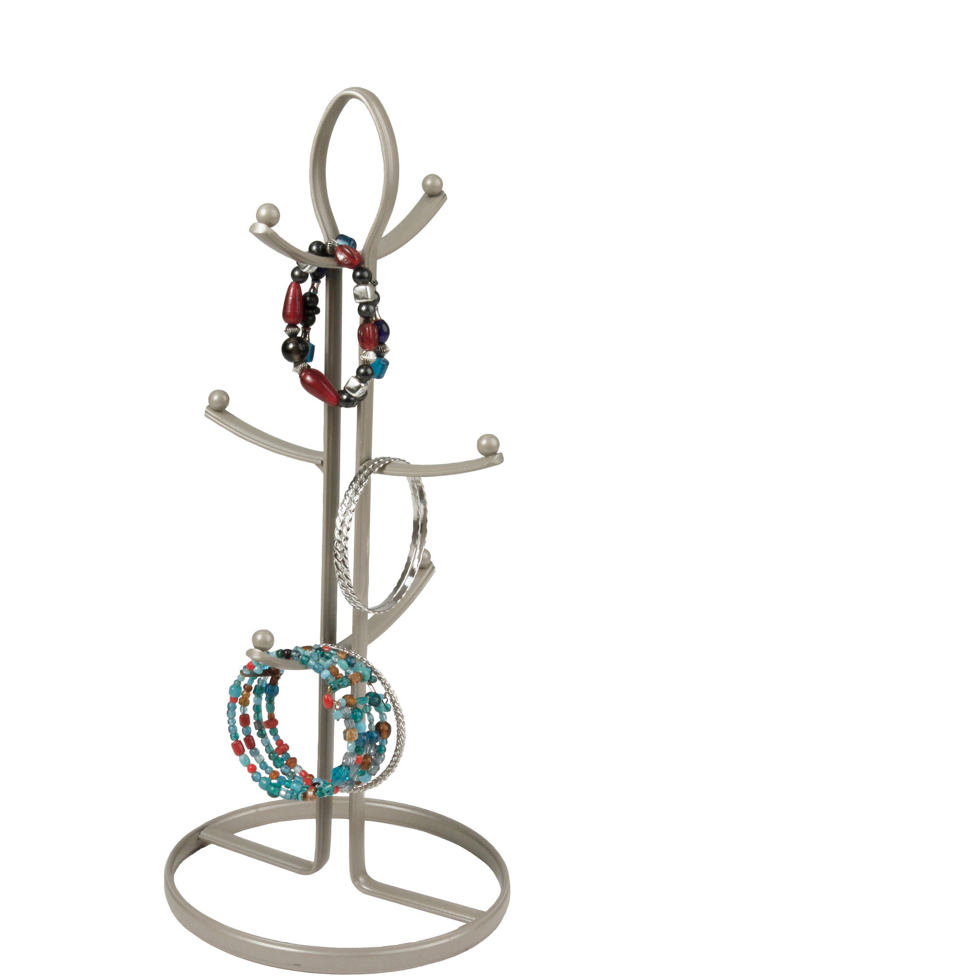 Spectrum Ashley 6-Tier Jewelry Holder, Satin Nickel PC