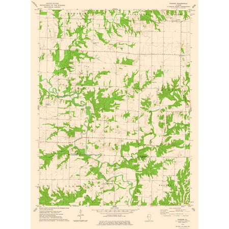 Topographic Map Fandon Illinois Quad Usgs 1974 23 X 31 38