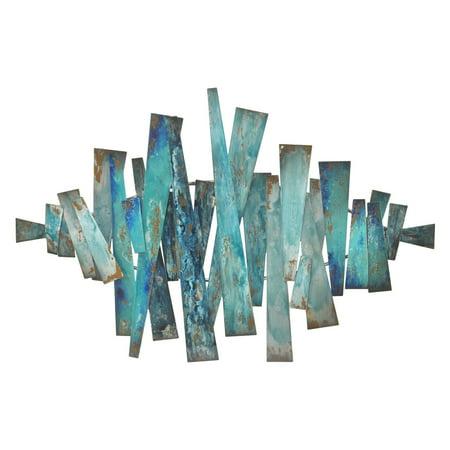 Three Hands Abstract Metal Slats Wall Decor