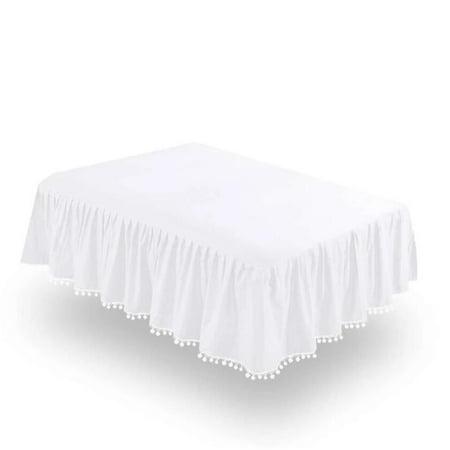 Crib Skirt - Dust Ruffle with Lovely Pompoms