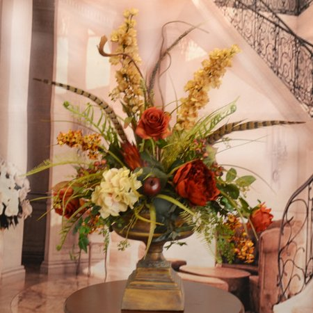 Floral home decor large silk flower arrangement with feathers floral home decor large silk flower arrangement with feathers mightylinksfo