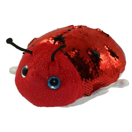 Stuffed Ladybug - Adventure Planet Sequinimals Plush - LADYBUG (Sequin - Red & Black) (10 inch)