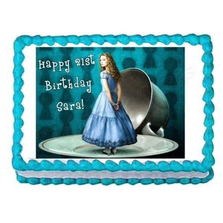 Alice In Wonderland Cake Decorations (ALICE IN WONDERLAND edible cake topper cake image frosting sheet decoration)