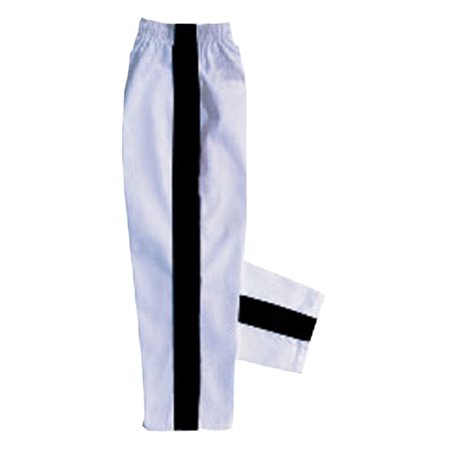 White with Black stripe karate pants by (Infant Karate Pant)
