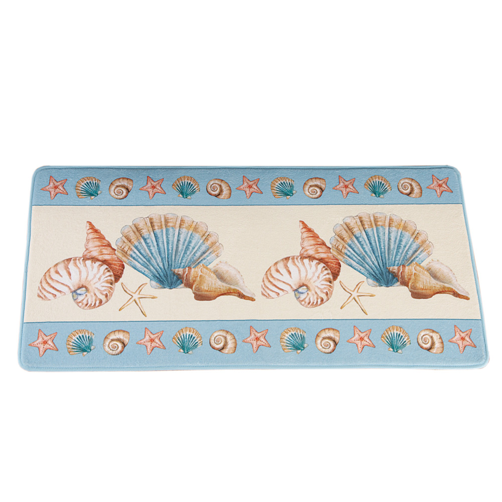 Shoreline Beach Theme Seashell & Starfish Decorative Accent Rug by Collections Etc