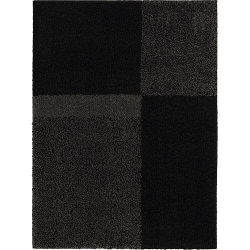 "Mohawk Home Quarter Cut Olefin Shag Rug, Black, 60"" x 84"""
