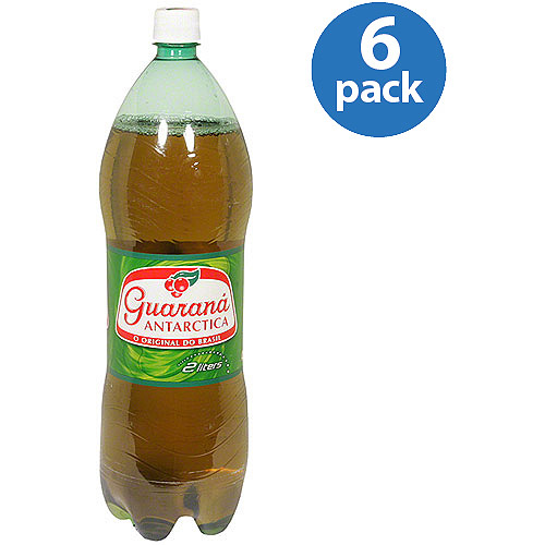 Guarana Antarctica Fruit Soda, 2 liters (Pack of 6)