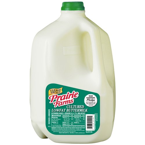 Prarie Farms Cultered Lowfat Buttermilk, 1 gal