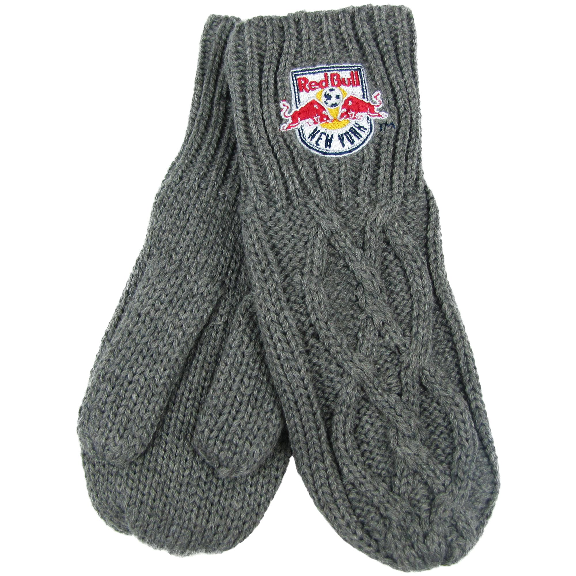 New York Red Bulls ZooZatz Women's Cable Knit Mittens - Charcoal - No Size