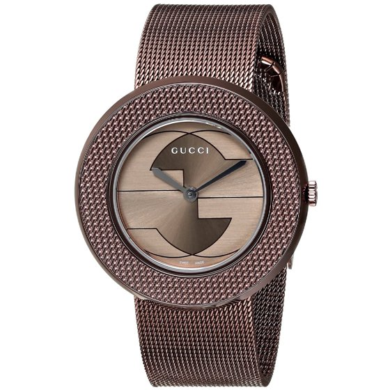 8a23fb44b58 Gucci - U-Play Brown Dial PVD Stainless Steel Ladies Watch YA129445 ...