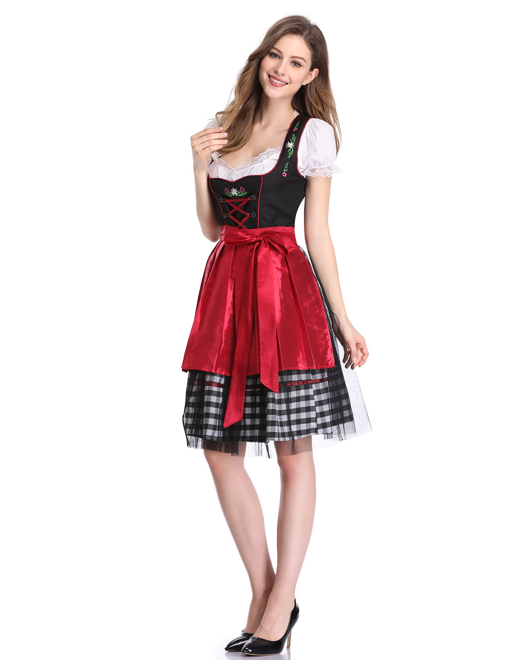 women's german dirndl dress 3 pieces traditional bavarian