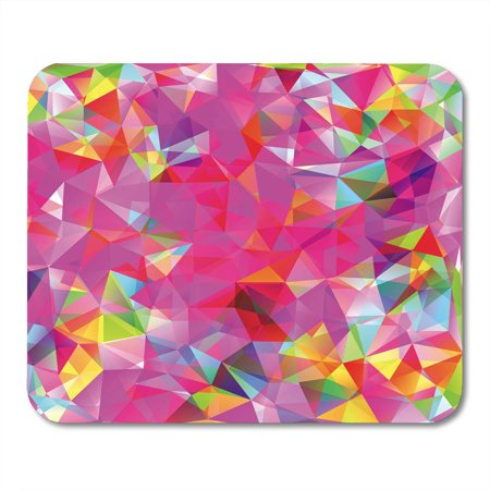 KDAGR Pink Neon Abstract Consisting of Triangles Blue Eighties Geometric Mousepad Mouse Pad Mouse Mat 9x10 inch (Eighties Neon)