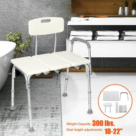 Fine Kadell Bath Tub Transfer Bench Shower Chair Seat Aluminum Frame Medical Height Adjustable W Back And Armrest Stool Non Slip Bathroom For Elderly 300 Ncnpc Chair Design For Home Ncnpcorg