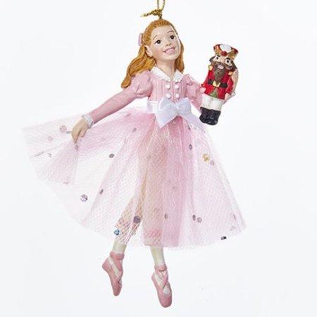 Clara in Pink Dress with Nutcracker Christmas Ornament Nutcracker Suite Ballet