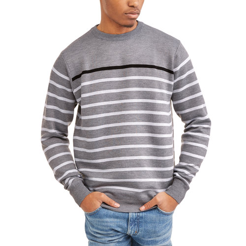Men's Big Stripe Crew Neck Sweater