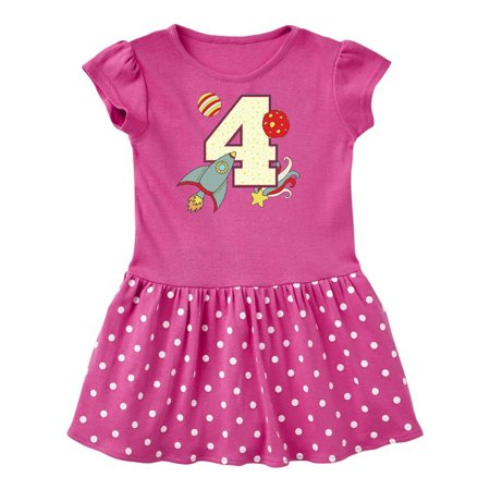 4th Birthday Outer Space Theme Toddler Dress (Dress Up Space Theme)