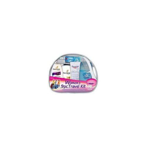 Pantene/Eurcerin/Crest Women's 9 pc Travel Hygiene Kit