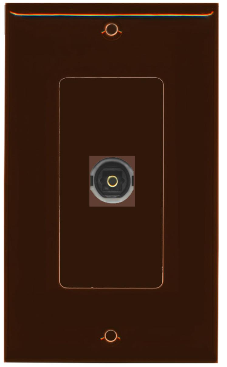 Gray Bracket Included RiteAV 1 Toslink Digital Audio Port Wall Plate Decorative