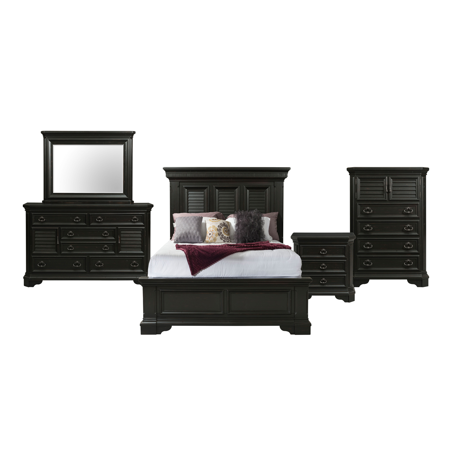 Picket House Furnishings Bradshaw King Storage 5pc Bedroom Set, Espresso by Elements International Group