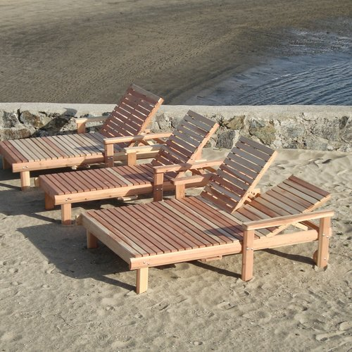 Best Redwood Beach Double Chaise Lounge