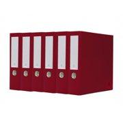 Bindertek 3-Ring 3-Inch Premium Binder Packs, Brick Red BDS3EFPACKBR
