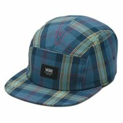 Vans Cowper Camper Adjustable Hat Cap Plaid Blue