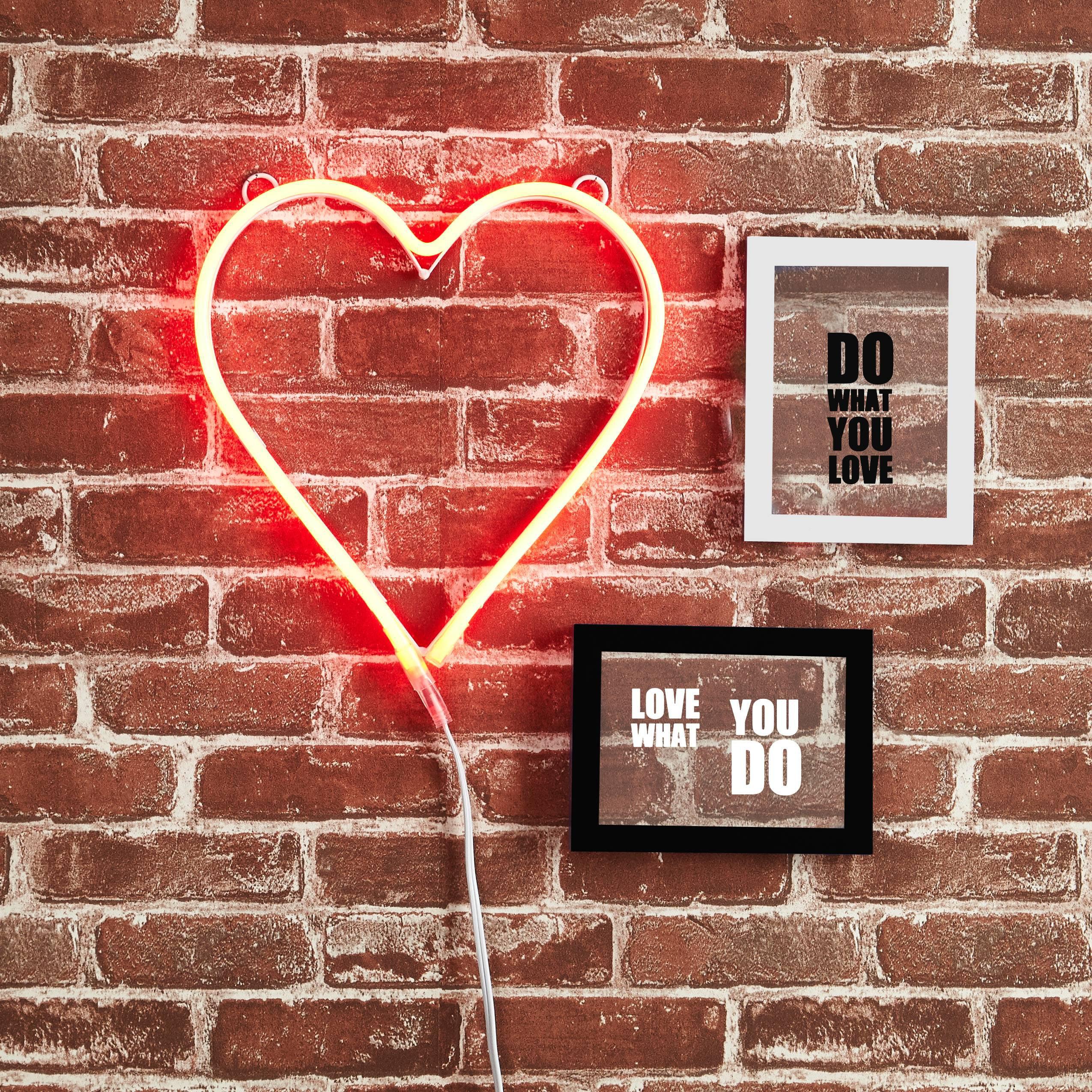 Mainstays Heart Red Neon Lights Wall Decor Ebay