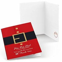 Jolly Santa Claus - Christmas Party Thank You Cards (8 count)