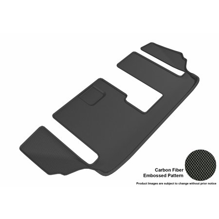 3D Maxpider 2016 2017 Mazda Cx 9 Third Row All Weather Floor Mat In Black With Carbon Fiber Look