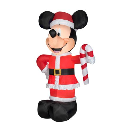 Disney Christmas Inflatables (Gemmy Airblown Disney Santa Mickey with Candy)