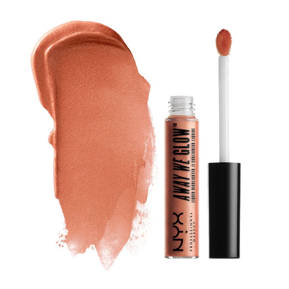(3 Pack) NYX Away We Glow Liquid Highlighter - Rose Quartz
