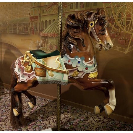 Canvas Print Merry Go Round Vintage Retro Wooden Horse Carousel Stretched Canvas 10 x 14](Carousel Horses For Sale)