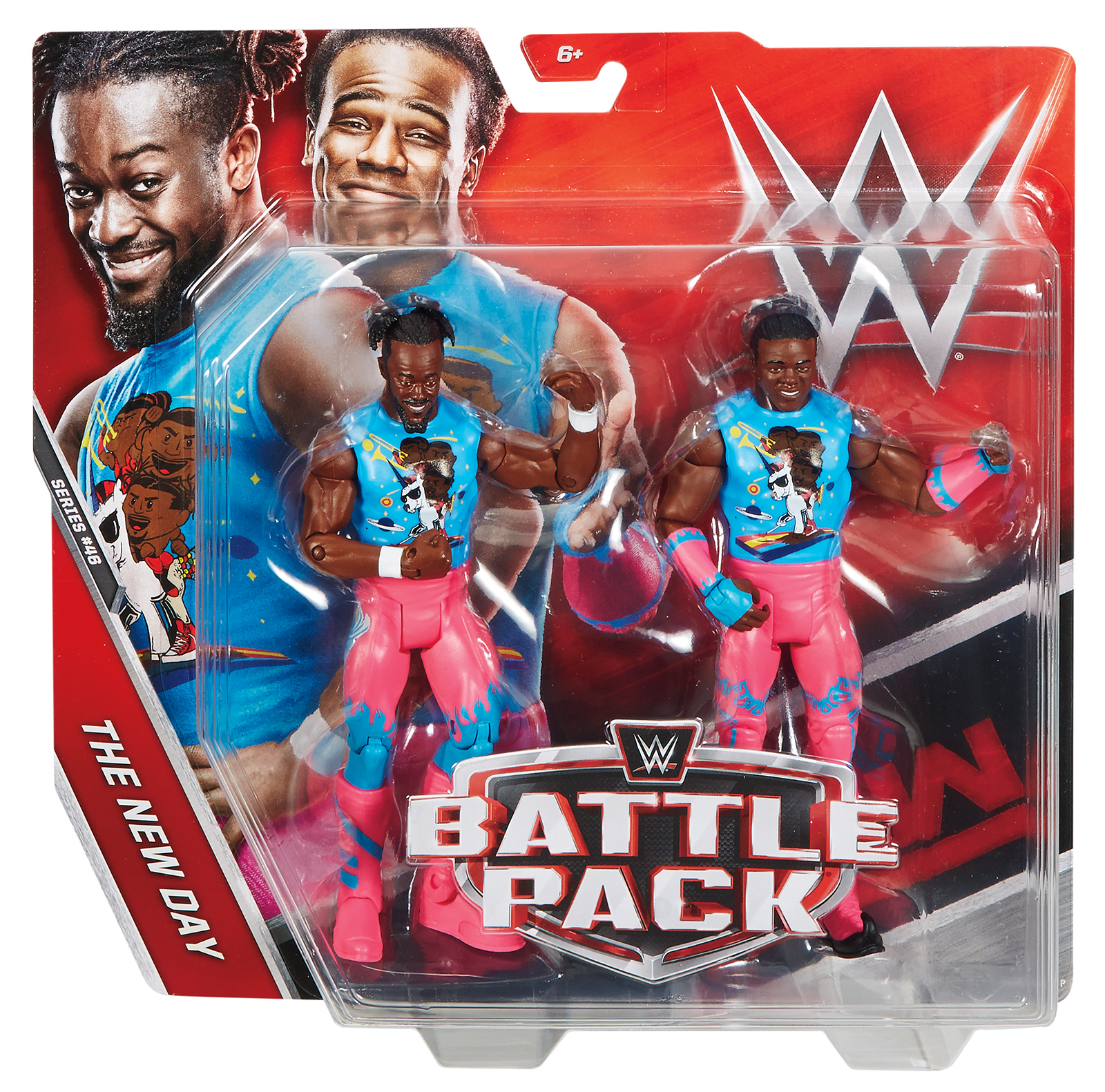 Xavier Woods & Kofi Kingston (New Day) - WWE Battle Packs 46 Toy Wrestling Action Figures
