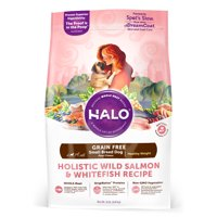 Halo Grain Free Natural Dry Dog Food, Small Breed Healthy Weight Wild Salmon & Whitefish Recipe, 10-Pound Bag