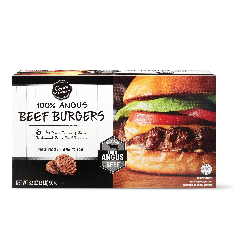 Sam's Choice Black Angus Beef Patties, 6 ct, 2 lb