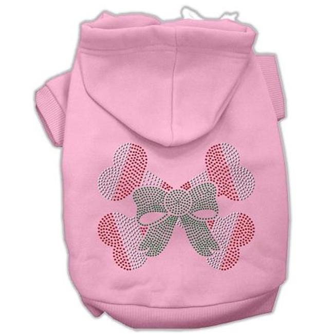 Candy Cane Crossbones Rhinestone Hoodie Pink Xxxl(20) - image 1 of 1