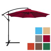 Best Choice Products 10ft Offset Market Patio Umbrella- Multiple Colors