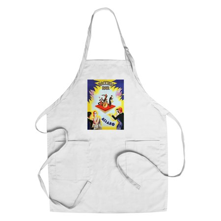 Bacchus Bar Vintage Poster (artist: Romoli) Italy (Cotton/Polyester Chef