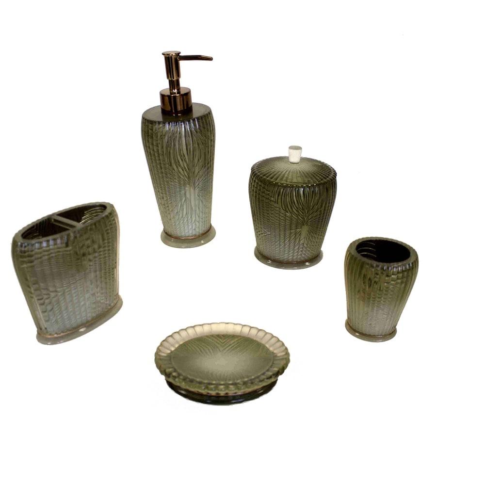 Sherry Kline  Loiza Green Bath Accessory 5-piece Set