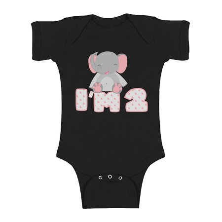 Awkward Styles Elephant One Piece Birthday Baby Bodysuit Short Sleeve Elephant Gifts for 2 Year Old Second Birthday Shirt 2nd Year Old Shirt My 2nd Birthday Gifts for Birthday Boy Birthday Gifts](Presents For 1 Year Old Boy)