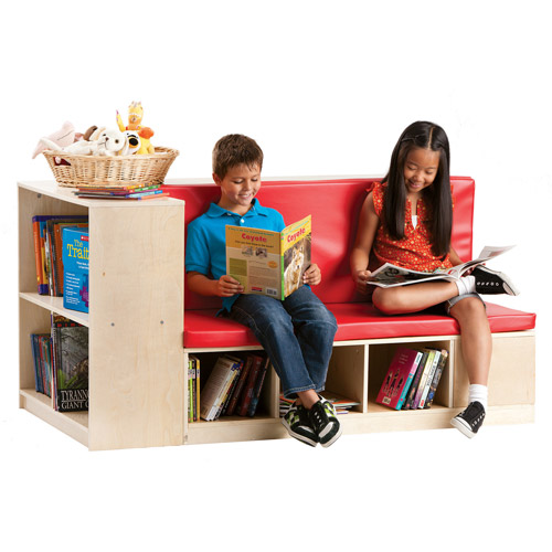 Guidecraft Modular Library Storage/Seating, Red