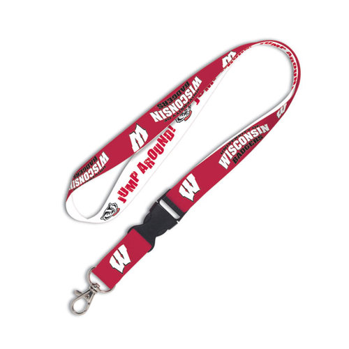 NCAA - Wisconsin Badgers 2-Tone Detachable Lanyard
